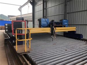 automatizovaný plazmový řezací stroj cnc s dvojitým pohonem 4 m rozpětí 15 m kolejnice
