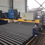 dvoubankový portálový cnc plazmový řezací stroj řezací masivní ocel / h paprsek výrobní linky