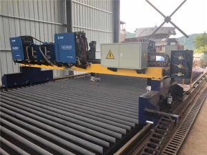Plazmový portový plazmový řezací stroj s dvojitým pohonem pro řezání výrobní linky na nosníky z pevné oceli H