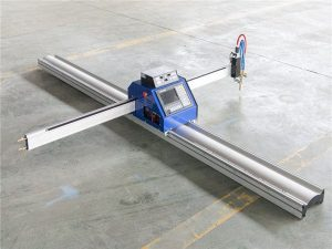 CNC plazmový řezací stroj s označením gravírovacího nástavce